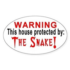 Protected By: The Snake Oval Decal