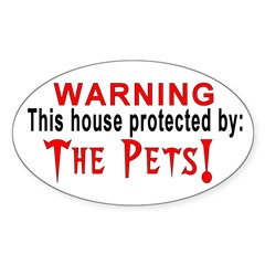 Protected By: Oval Decal