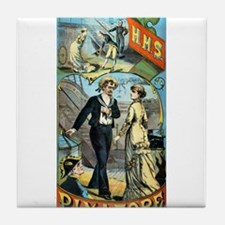gilbert and sullivan Tile Coaster