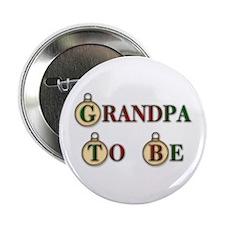 Christmas Grandpa To Be Button