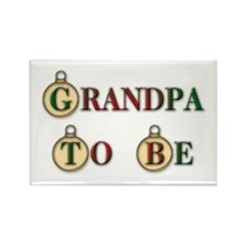 Christmas Grandpa To Be Rectangle Magnet