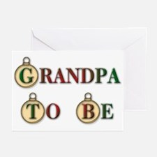 Christmas Grandpa To Be Greeting Cards (Package of