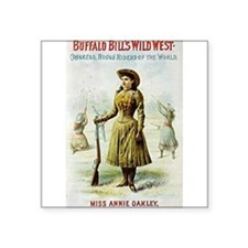 "buffalo bill Square Sticker 3"" x 3"""