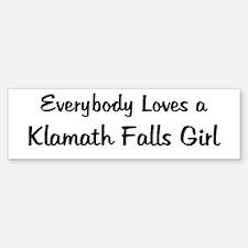 Klamath Falls Girl Bumper Bumper Bumper Sticker