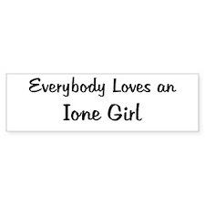 Ione Girl Bumper Bumper Sticker