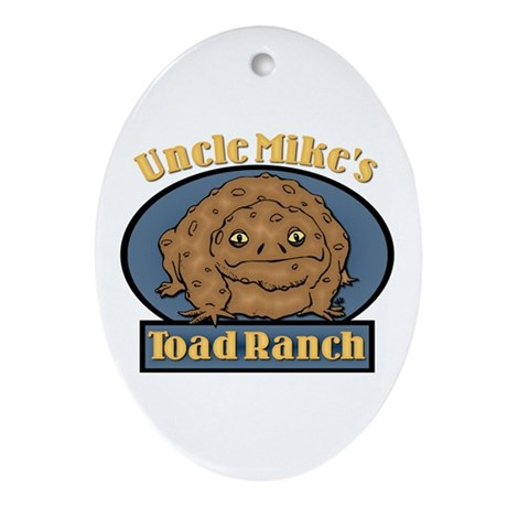 Uncle Mike's Toad Ranch Oval Ornament