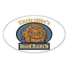 Uncle Mike's Toad Ranch Oval Decal