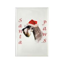 Santa Paws Miniature Schnauzer Rectangle Magnet