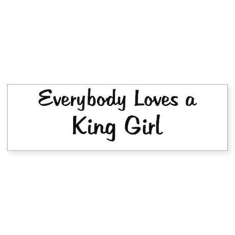 King Girl Bumper Sticker