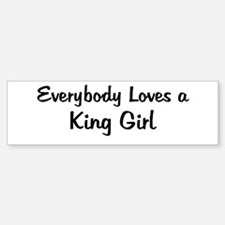 King Girl Bumper Bumper Bumper Sticker