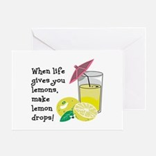Lemon Drop Martini Greeting Card