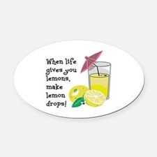 Lemon Drop Martini Oval Car Magnet