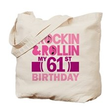 61st Birthday rock and roll Tote Bag