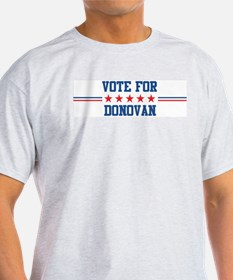Vote for DONOVAN Ash Grey T-Shirt
