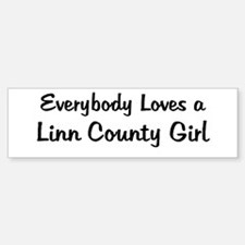 Linn County Girl Bumper Bumper Bumper Sticker