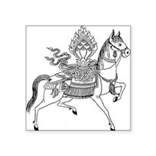 "Wind Horse Square Sticker 3"" x 3"""