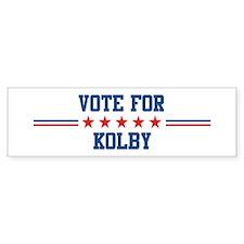 Vote for KOLBY Bumper Bumper Sticker