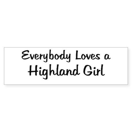 Highland Girl Bumper Sticker
