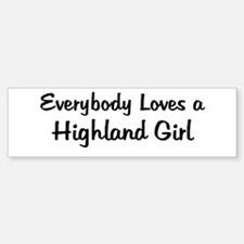 Highland Girl Bumper Bumper Bumper Sticker