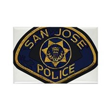 San Jose Police patch Rectangle Magnet (100 pack)