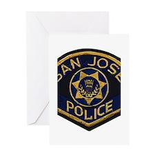 San Jose Police patch Greeting Card