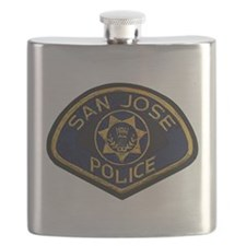 San Jose Police patch Flask