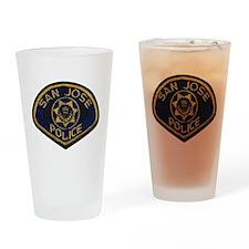 San Jose Police patch Drinking Glass