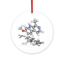 Harmine drug molecule - Round Ornament