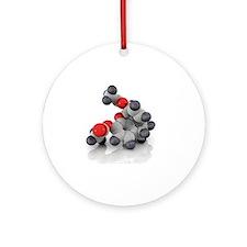 Heroin molecule - Round Ornament