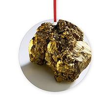 Iron pyrite - Round Ornament