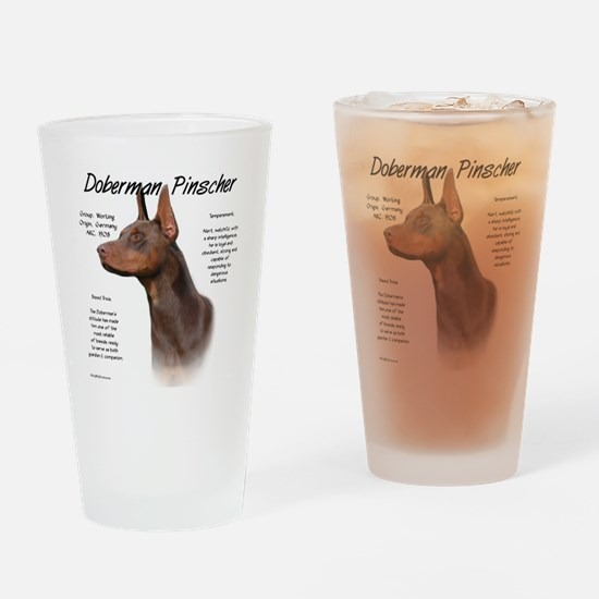 Cute Dobies Drinking Glass