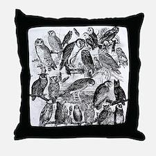 Vintage Owls Throw Pillow