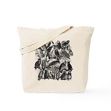 Vintage Owls Tote Bag