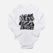 Vintage Owls Long Sleeve Infant Bodysuit