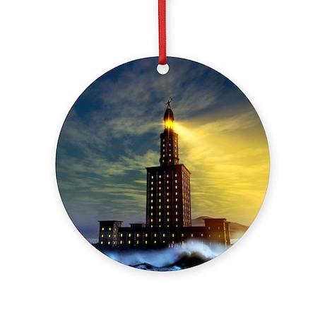 Pharos lighthouse of Alexandria, artwork - Round O