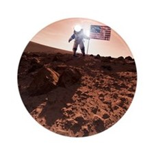 US exploration of Mars, artwork - Round Ornament