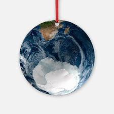 Antarctic ice sheet maximum, 2005 - Round Ornament