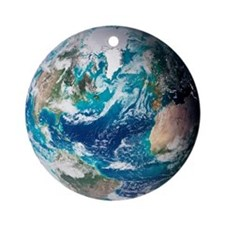 Blue Marble image of Earth (2005) - Round Ornament