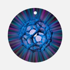 Buckyball molecule, artwork - Round Ornament