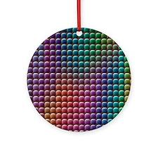 Digital camera CCD sensor pixels, SEM - Round Orna