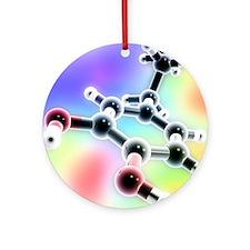 Dopamine, 3D molecular model - Round Ornament