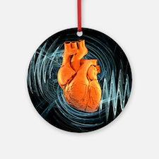 Heartbeat, conceptual artwork - Round Ornament