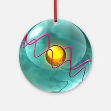 Helium atom, artwork - Round Ornament