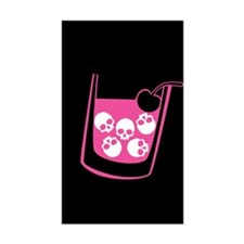 Pink Skull Cocktail Decal