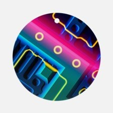 Microchip, artwork - Round Ornament