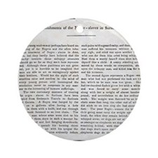 Punishment of Slaves text - Round Ornament