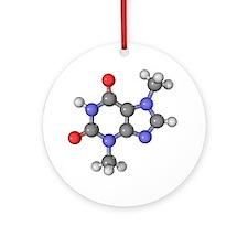 Theobromine molecule - Round Ornament