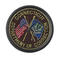 Connecticut DOC patch Large Wall Clock