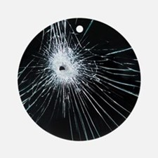 Broken glass - Round Ornament