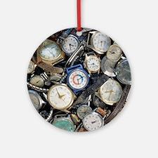 Broken wrist-watches - Round Ornament